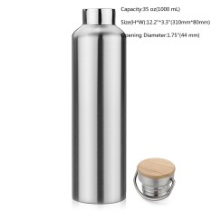 Stainless Steel Sports Vacuum Insulated Water Bottle Travel 1000Ml Intl Sale