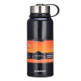 Buying Stainless Steel Vacuum Thermal Insulated Bottle Portable Large Capacity Kettle Multi Function Travel Sports Mug Color Black Volume 1100Ml Intl