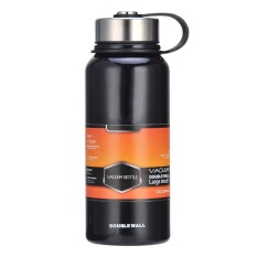 Get The Best Price For Stainless Steel Vacuum Thermal Insulated Bottle Portable Large Capacity Kettle Multi Function Travel Sports Mug Color Black Volume 1100Ml Intl