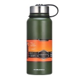 Stainless Steel Vacuum Thermal Insulated Bottle Portable Large Capacity Kettle Multi Function Travel Sports Mug Color Green Volume 1100Ml Intl Coupon