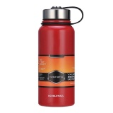 Cheap Stainless Steel Vacuum Thermal Insulated Bottle Portable Large Capacity Kettle Multi Function Travel Sports Mug Color Red Volume 1500Ml Intl Online