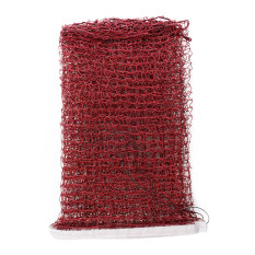 Standard Sport Braided Badminton Nylon Net 6.1 X 0.76m Durable Dark Red New By Bokeda Store.