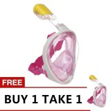 Style Clique M2068 Easybreath Snorkeling Mask Pink Buy 1 Take 1 For Sale