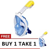 Discount Style Clique M2068G Easybreath Snorkeling Mask With Camera Holder Blue Buy 1 Take 1 Singapore
