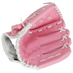 Shop For Thickened Pu Leather Kids Baseball Glove For Softball Tee Ball Teeball 10 5 Inch Pink Intl