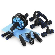 Retail Tomshoo 5 In 1 Ab Wheel Roller Kit With Push Up Bar Jump Rope Hand Gripper And Knee Pad Abdominal Core Carver Fitness Workout Intl