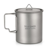 Sale Tomshoo Ultralight 750Ml Titanium Cup Outdoor Portable Camping Picnic Water Cup Mug With Foldable Handle Intl On China