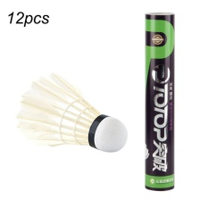Totop 4120 Training White Goose Feather Shuttlecocks Birdies Badminton Ball Set Of 12 - Intl By Empire Era.