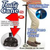 Sales Price Trusty Cane Folding Walking Stick With Triple Head Pivoting Base And Led