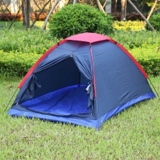 Sale Two Person Outdoor Camping Tent Kit Fiberglass Pole Water Resistance With Carry Bag For Hiking Traveling Intl Oem