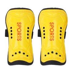 Ultra Light Soft Football Shin Pads Soccer Guards Sports Leg Protector Kids(yellow) - Intl By Sportschannel.