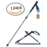 Wholesale Ultralight Shock Absorber Trekking Pole Travel Walking Climbing Hiking Stick Alpenstocks With Eva Foam Handle Black Intl