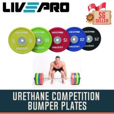 Urethane Competition Bumper Plates (sold In Pair) By Singapore Fitness.