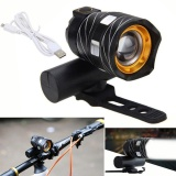 Usb Rechargeable Xml T6 Led Bicycle Bike Light Front Cycling Light Head Lamp Intl For Sale