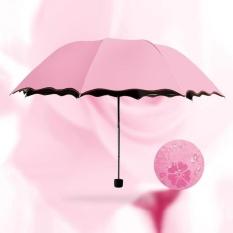 UV Protection Sun Rain Umbrellas Folding Parasol Encounter Water Show Flower New - intl