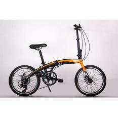 Vert V8 S2 Light Weight Foldable / Folding Bicycle Bright Orange By Dva Trading.
