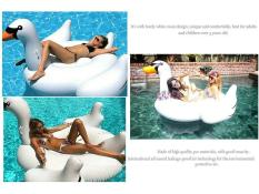 Sale Voogol Lovely White Swan Design Inflatable Pool Floats Swim Ring For Kids And Adults White S On China