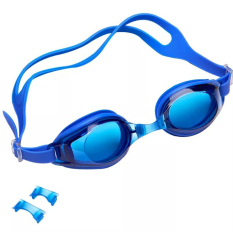 Discount Waterproof Anti Fog Anti Uv Swimming Goggles Blue Export Not Specified On China