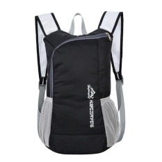 Waterproof Bionic Foldable Backpack Portable Package Unisex Leisure Bag(black) - Intl By Crystalawaking.