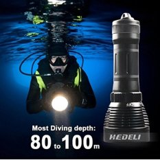Waterproof Powerful Professional Underwater Flashlight XML T6 Linternas Diving Torch Led Searchlight - intl