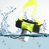 Best Offer Waterproof Xml T6 2000 Lumen Underwater 20M Led Diving Flashlight 18650 Headlamp Headlight Dive Head Light Torch Lamp Bicycle Cycling Lights Yellow