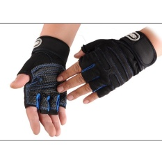 Weight Lifting Gym Gloves Training Fitness Wrist Wrap Workout Exercise Sports - Intl By Bokeda Store.