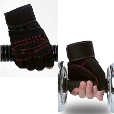 Weightlifting Gym Gloves Workout Wrist Wrapsports Exercisetraining Fitness By Sportschannel.