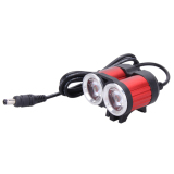 Deals For Xml 2 T6 Super Bright Waterproof 4 Mode 2400Lm Led Bicycle Headlight Red Intl