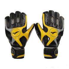 Yellow Size 9 Mens Football Goalkeeping Soccer Goalkeeper Sports Goalie Gloves - Intl.