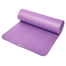 Price Yoga Mat Exercise Fitness Aerobic Gym Pilates Camping Non Slip 15Mm Thick Purple Intl Oem