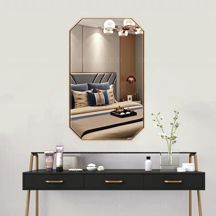 ALVEDA Accent Gold Wall Mirror