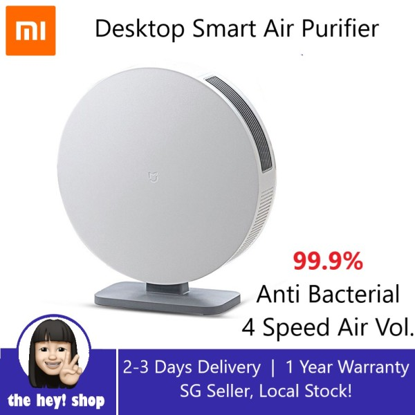 Xiaomi Mijia Desktop Air Purifier Anti Bacterial Allergens Air Pollutants PM 2.5 4 Fan Speed Intelligent Control APP Control for Home and Office Singapore