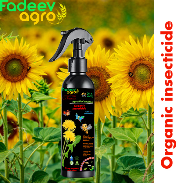 Organic insecticide. Safe for pollinators. Innovative ready-to-use minerals spray for organic protection from pests. Unique organic mix rich with S, Se, Si and other minerals efficiently repels pests but does not harm pollinators.