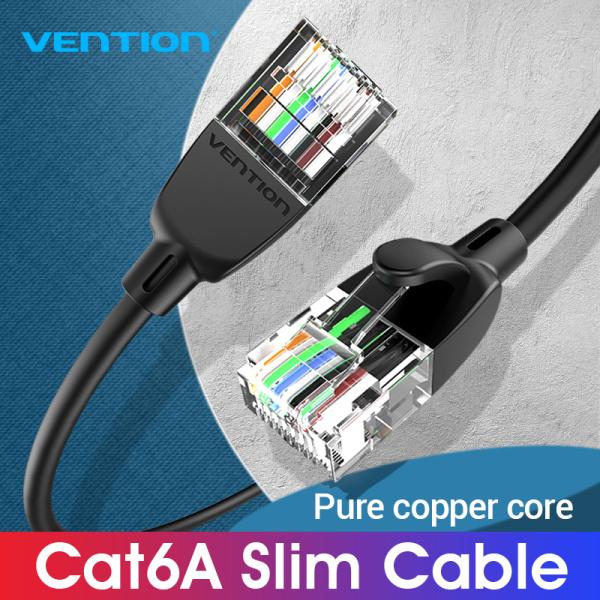 Vention Cat 6A Ethernet Cable rj45 Slim Ethernet Cable 10Gbps UTP rj45 Lan Cable Compatible Patch Cable for Laptop Router Modem Cat 6A internet Cable 0.5m 1m 2m 3m 5m 10m Cat 6A Lan Cable Network Cable