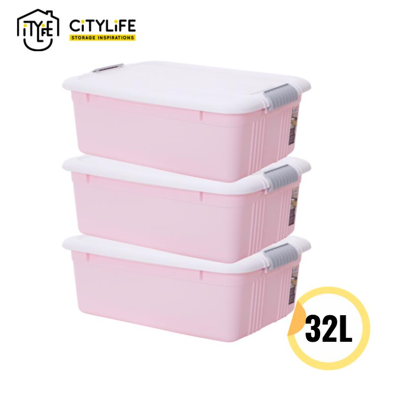 [BUNDLE OF 3] - Citylife Sugar Storage Container 50L/32L *Pastel Colors