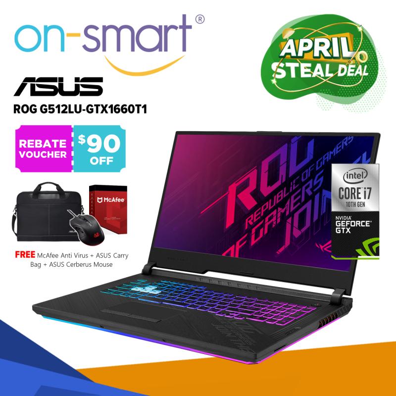 【Next Day Delivery】ASUS ROG Strix G15 G512LU-GTX1660T1 | Intel Core i7-10750H Processor | 16GB RAM | 1TB NVMe SSD | NVIDIA GeForce GTX 1660 Ti 6GB GDDR6 | Windows 10 Home | 2 Years International Warranty