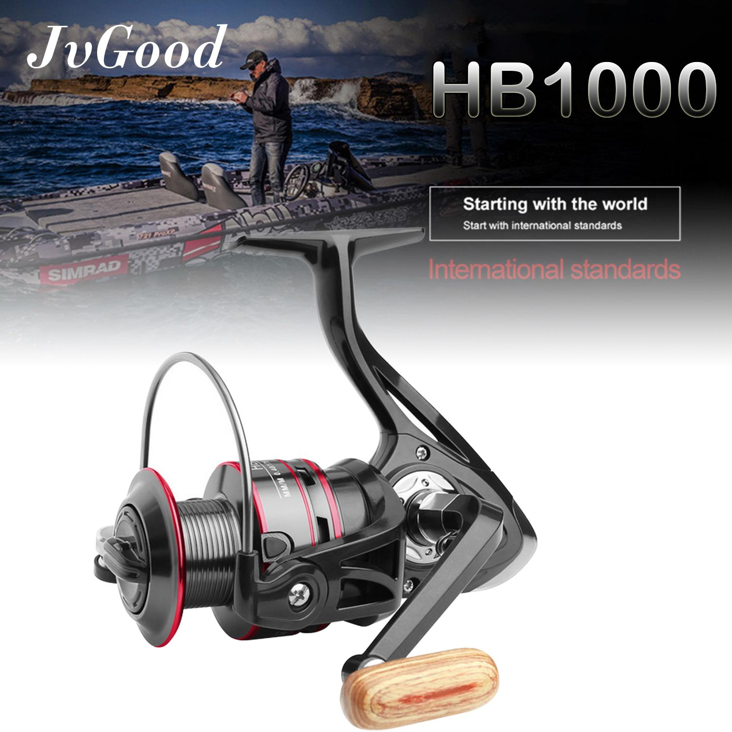 JvGood Fishing Reel, 11+1BB, Light Fish Reels and Smooth Powerful Spinning Reel