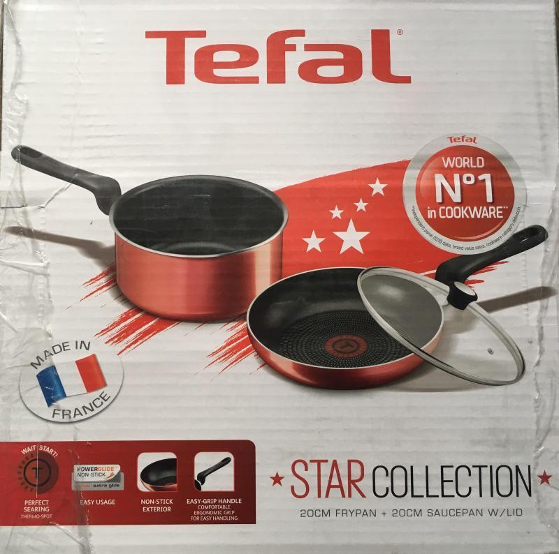 Tefal 20cm Fry Pan + 20cm Sauce Pan with Lid Singapore