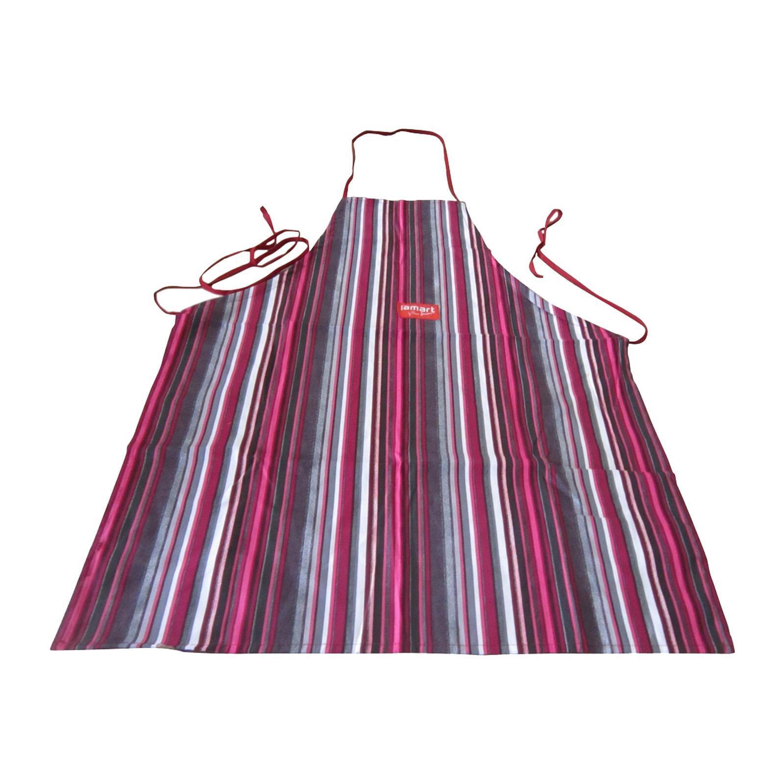 Lamart Cotton Kitchen Apron With Coloured Strips 60X80Cm