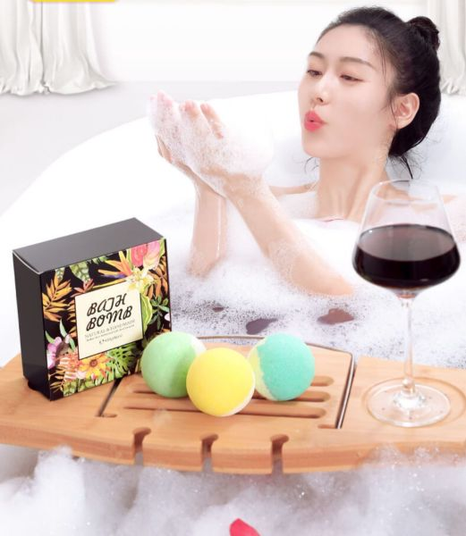 Buy [CNY] Spa Bath Bomb Salt Sea Salt Bubble Bath Bombs Bath Ball Set Relaxation Shower Bath Fizzy BathBalls Bathbomb Handmade Spa Salts Organic Set Singapore