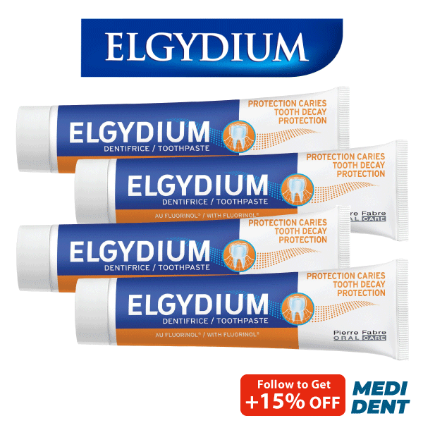 Buy ELGYDIUM ADULT CARIES PROTECTION TOOTHPASTE 75ML [BUNDLE OF 4] Singapore