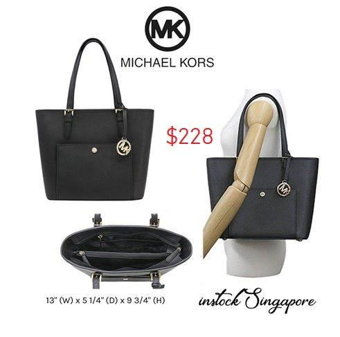 Michael Kors Jet Set Travel Large Logo Tote zip clousure 66170f6610