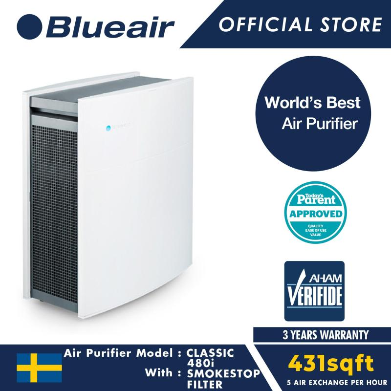 Blueair Air Purifier Classic 480i with SmokeStop Filter Singapore