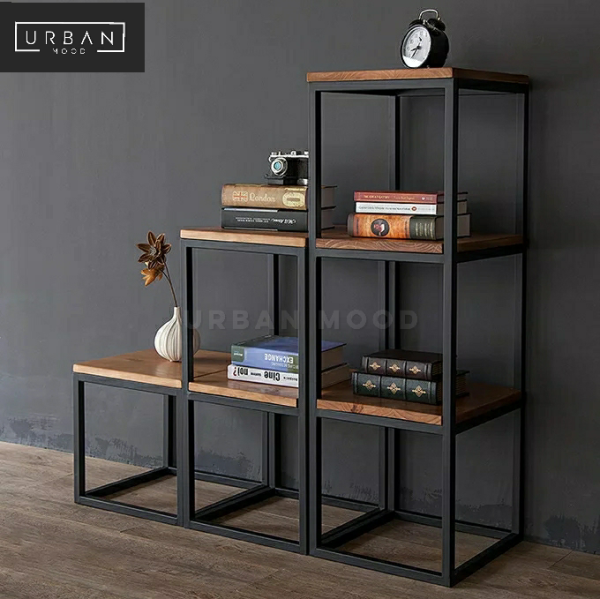 [Pre-Order] SIENNA Modern Industrial Solid Wood Shelf