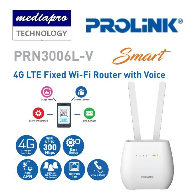 PROLINK PRN3006L-V 4G LTE Fixed Wi-Fi Router with Voice, Powered by  Qualcomm LTE ( PRN3006LV ) - Local Limited Life Time Warranty