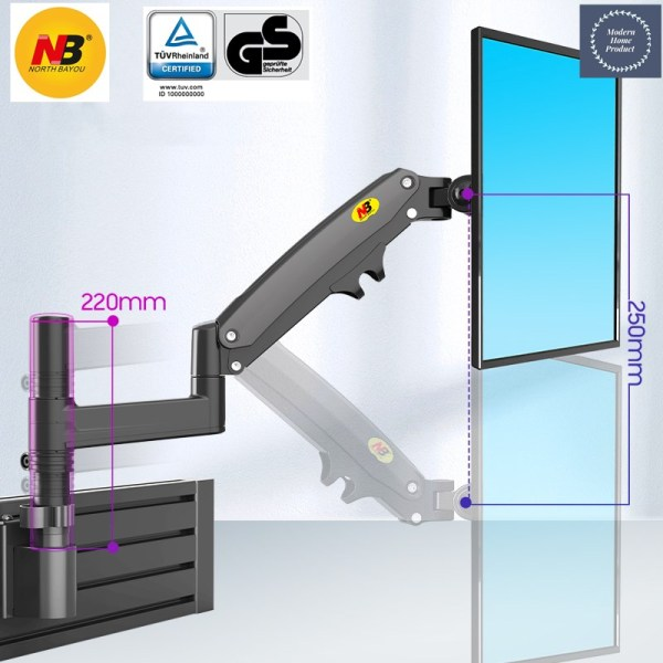 SG Seller]  Monitor Partition Wall Mount Arm - NB M60 (22 to 35 Inch Monitor)