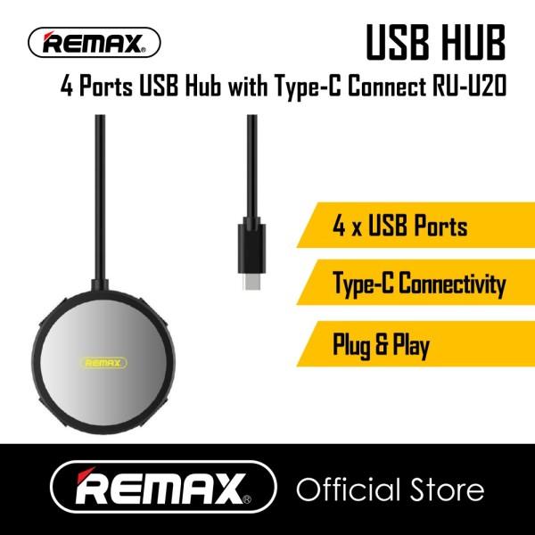 Remax RU-U20 4 USB Port Hub With Type C Connectivity 30cm
