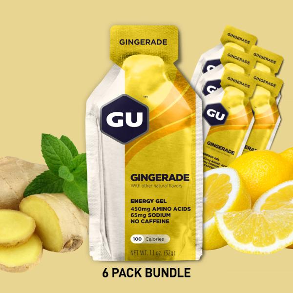 Buy (6 Packs) GU Energy Gel Gingerade - Expiry Date: April 2022 Singapore