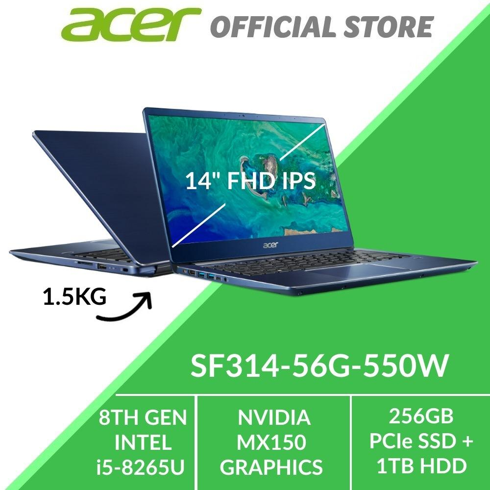 Acer Swift 3 SF314-56G-550W Thin and Light Laptop (Blue) - Intel i5-8265U Processor with Graphics