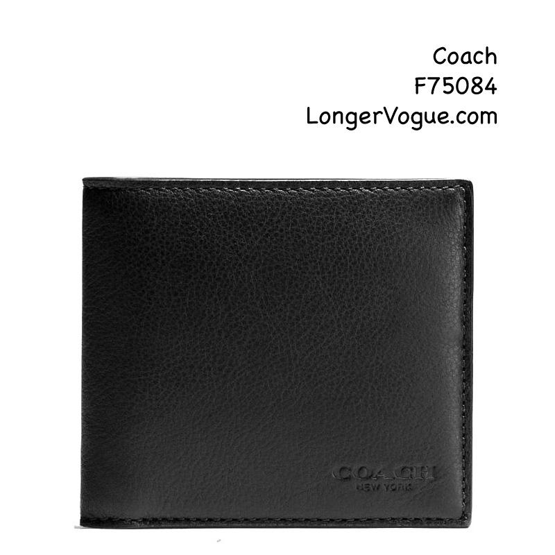 8241436ebb1d Coach mens leather wallet two bi-fold sport calf wallet card case F74991  F75084 コーチ